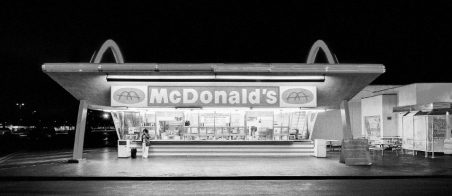 The oldest operating McDonald's restaurant in the world in Downey, Los Angeles, California, USA
